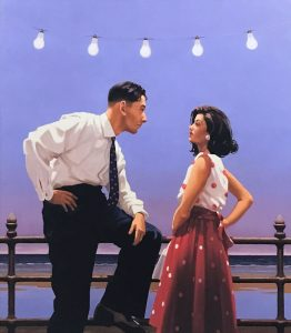 The Big Tease - Jack Vettriano (Original Oil on Canvas)