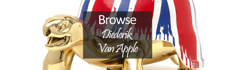 Diederik Van Apple tortoise sculptures and art