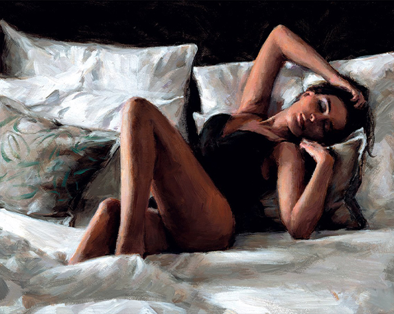 Olga at Home by Fabian Perez (Original and Limited Edition Prints)