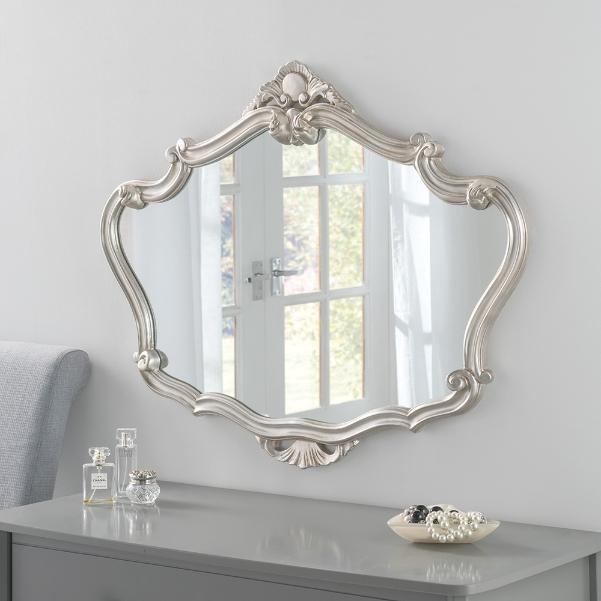 Ornate Crested Framed Wall Mirror Silver 149 00 Enid Hutt Gallery