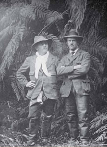 Old photograph of Sir Charles Burroughs and Sir Brantson Pickle R.A.